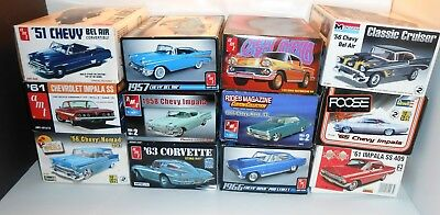 Chevrolet Chevy Model Kit Junk Yard Lot Amt Revell Lindberg 12 Kits