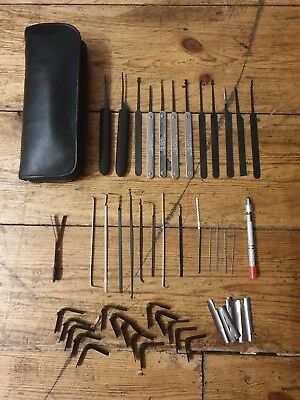 56 piece lock picking set with leather wallet