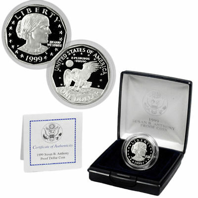 1999-P Susan B Anthony Dollar * Proof * Last Year * US Mint & COA * Low Mintage