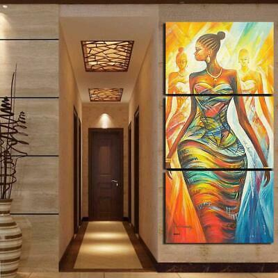 Beautiful African Woman Canvas Wall Art Decor of Creative and Modern Art