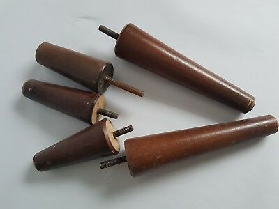 Vintage Lot of Screw In Wooden Furniture Legs Couch Chair 3.5 and 7 Inch