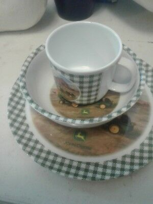 Gibson Melmac John Deere dishes, plate , bowl, cup, great condition