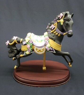 Lenox 1993 Midnight Charger Handcrafted Porcelain Carousel Horse