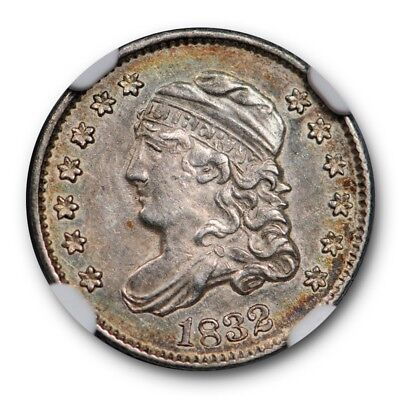 1832 Capped Bust Half Dime H10C NGC AU 58 About Uncirculated Toned Beauty