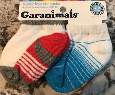 Nwt Baby Boy 6-Pair Pack Of Low Cut Socks Size 6-18 Months