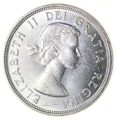 Silver Dollar 80% 1964 Canada Canadian ASW .60 Troy Ounces *335