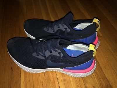 13d303c5a8c61 NIKE EPIC REACT Flyknit Blue And Pink Men s Running Shoes USED Size ...