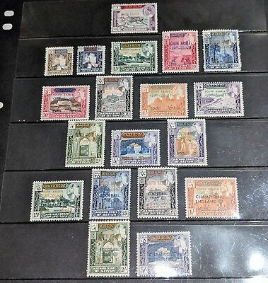 Stamp Pickers South Arabia Aden Classic Stamps Overprint Lot 2 Sets MNH XF $100