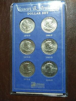 Susan b anthony dollar set complete for 1979&2980
