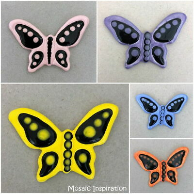CERAMIC BUTTERFLY - 50x70mm ~ Mosaic Inserts, Art, Craft Supplies