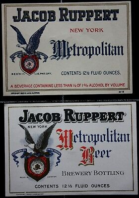 BEUSA 327 # beer label USA New York Ruppert Brewing NY - 2x