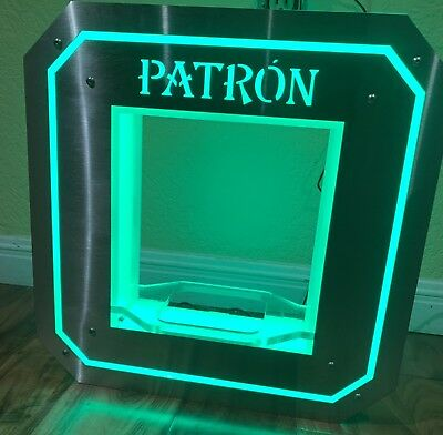 Limited Edition Patron Bar Lighted Liquor Bottle Holder Cool Collectible