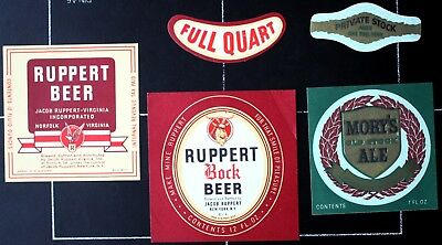 BEUSA 334 # beer label USA New York Ruppert Brewing NY - 3x