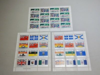 Stamp Pickers Canada 1979-80 Souvenir Sheets Mint Lot Scott #832a x 2 #858ai $37