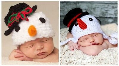 2019 new cute snowman Warm Baby KidsToddler Hat winter Beanie Knitted Cap Style