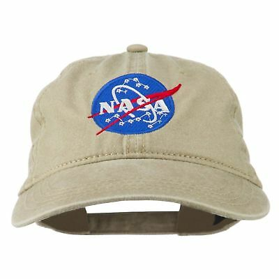NASA INSIGNIA EMBROIDERED Pigment Dyed Dad Hat Cap Maroon One Size ... b1068afcc573