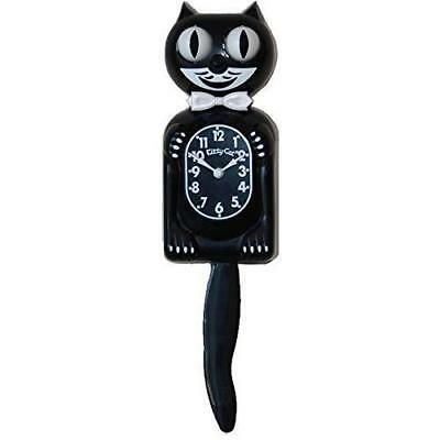 Kitty Cat Klock Classic Black 12.75 Inches Tall 3/4th Scale Wagging Tail Clock