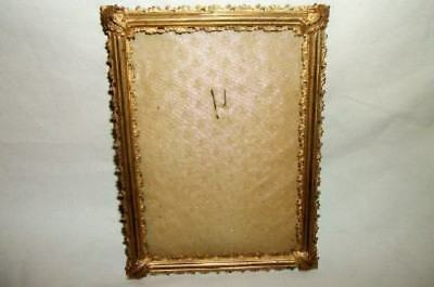 Antique French Ormolu Gold Plated Ornate Picture Frame Paris Late 1800's