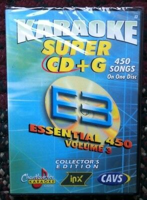 Chartbuster Essentials Karaoke Scdg E3, 450 Songs, Cavs Super Cd+G ($99.99)