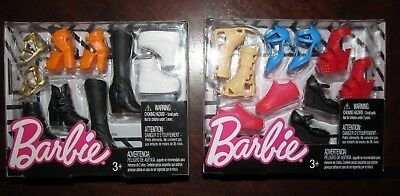 Barbie Shoes 10 Pair Shoes Boots Heels Sneakers Tennis Shoes Sandals NEW