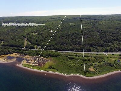 119 Acre Waterfront Parcel on Bras d'Or Lakes, Cape Breton Island, Nova Scotia
