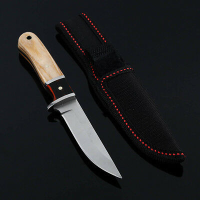 Camping Fixed Blade Knife Wood Handle Outdoor Tactical Straight Knives Survival