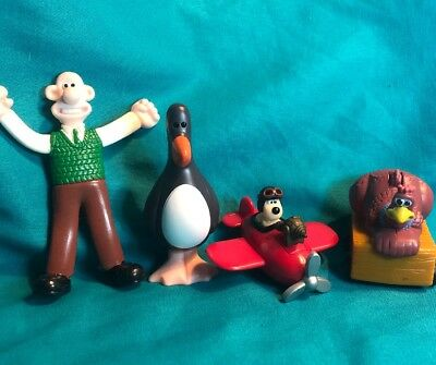 Aardman Animation Toys Applause Wallace And Gromit Chicken Run Lot Of 4