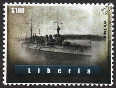 VOLTAIRE Danton Class Semi-Dreadnought Battleship French Navy WWI Warship Stamp
