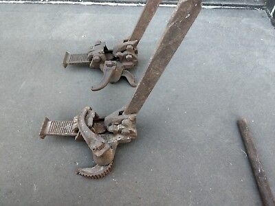 "Vintage Floor Clamps Pike Pickering Patent ""The Little Booster"""