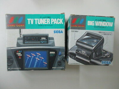 GG JUNK Game Gear TV Tnuner Pack + Big Window Boxed Lot of 2 JP