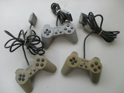 PS1 Controller SCPH-1010 SCPH-1080 Lot of 3 Yellowed Scratches JP No.1