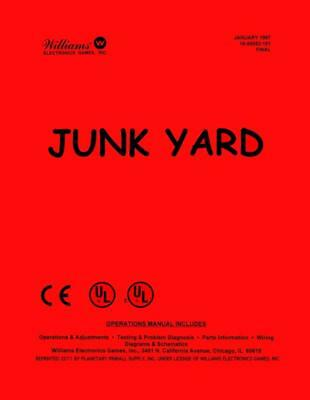 Junk Yard Pinball Operations/Service/Repair Manual/Arcade Machine Junkyard   PPS