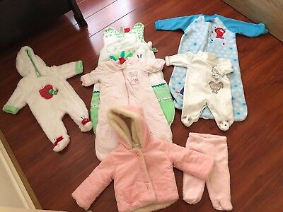 7 Bulk Baby Girl Winter Clothing Size 0-18 Months (Excellent Condition)