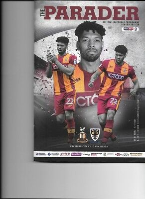 Bradford City v AFC Wimbledon (Sky Bet League One) 27.01.2018