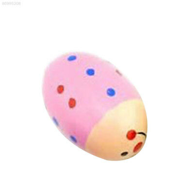 E01F Egg Wooden Baby Child Children Toys Instrument Percussion Colorful Maracas