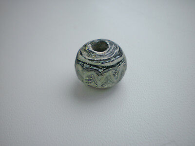 Ancient Rare Authentic Viking Glass Bead Pendant Amulet 7 - 9 century AD
