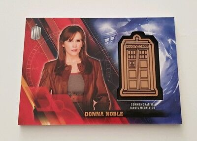 Topps Dr Who Timeless Donna Noble Bronze Tardis Medallion 025/150