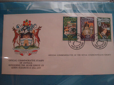 Antigua - FDC 1977 Queen Elizabeth II Silver Jubilee Commemorative Cover