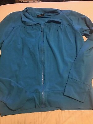 Atmosphere Size 16-18 Zip Up Cardigan/jacket. Teal Blue/green Colour.