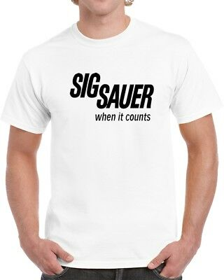 Sig Sauer When It Counts Gun Lover Unisex T Shirt