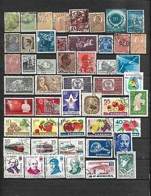 Collection Lot Of 132 Romania Stamps 1908+ Clearance 3 Scan