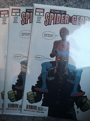 Marvel Comics: Edge of Spider-Geddon #3 2018 NM First App of uncle Spidey Ben!🔥