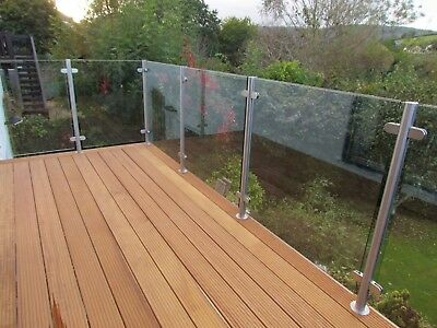 Glass Balustrade Panels - 900 x 1000mm -10mm Toughened Glass - NATIONWIDE DELIVE