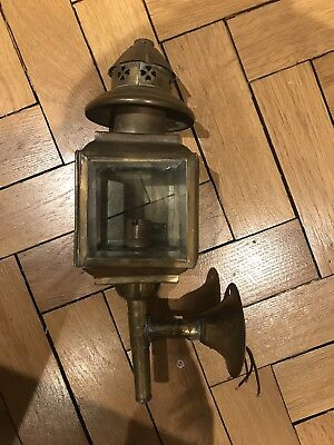 Antique Victorian Carriage Coach Lamp Light