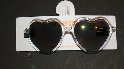 New Gymboree Girls Clear Heart Shaped Sunglasses Baby 0-24m 0-2 year