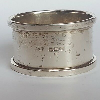 Antique Solid Silver Napkin Ring. Heavy & Uncleaned.