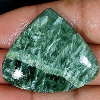 86.70 Cts. 100% Natural Designer Rare Green Seraphinite Heart Cabochon Gemstone
