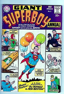 DC Giant Superboy Annual # 1 1964 Silver Age Bagged & Boarded (VG+)
