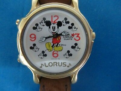 Lorus Mickey Mouse Disney Musical Watch- Works Great