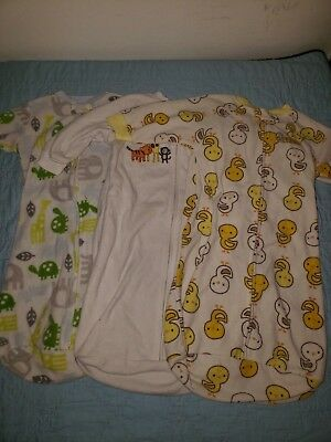 Baby Boy Sleeper Sack Lot of 3 Carters Brand One Size 0-9 Months